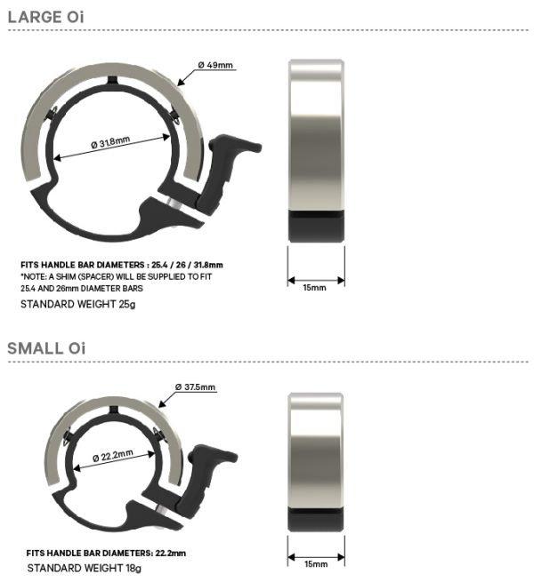 KNOG | OI Bell size diagram
