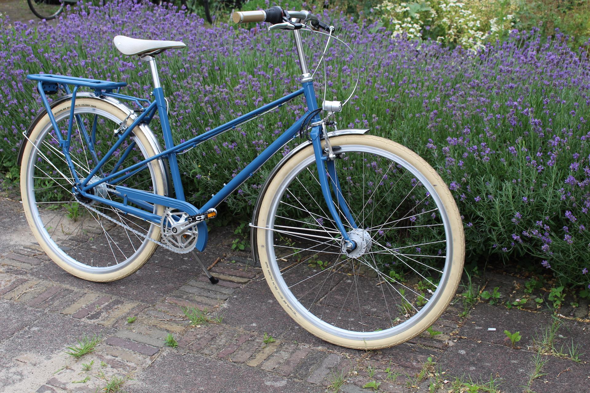 Oudegracht | Mixte frame | Blue | racebike | Handmade bike | Netherlands