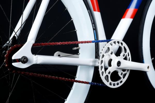 Aluminium frame on sport bike