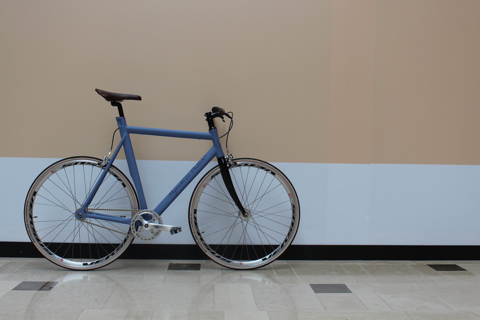 Custom made sport bicycle in fixed gear