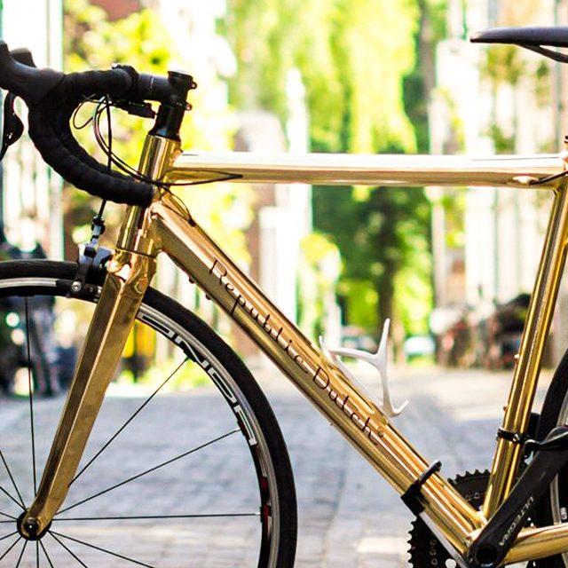 Gouden racefiets